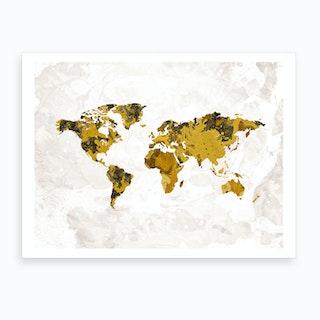 Artistic World Map Iv Art Print