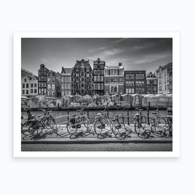 Amsterdam Singel With Flower Market Art Print