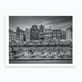 Amsterdam Singel With Flower Market Art Print