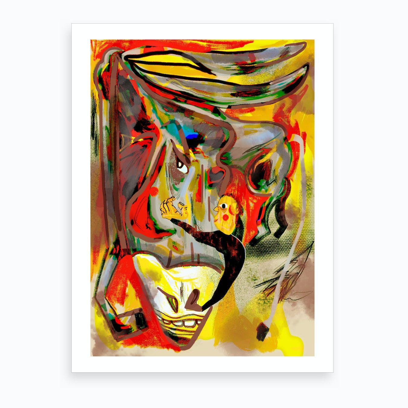 Adopt A Donkey Art Print