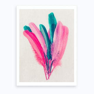 Feather Bouquet Art Print