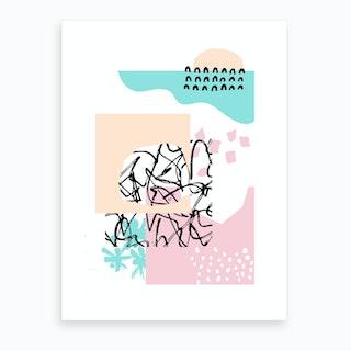 Peachy Abstract Art Print