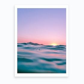 The Waves The Sun The Sky Art Print