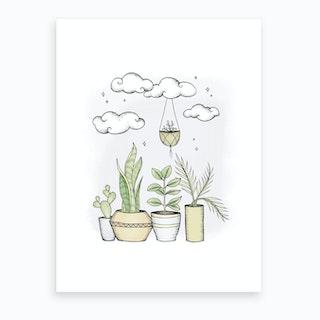 Never Enough Plants Art Print
