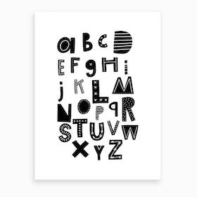 Scandi Alphabet Art Print