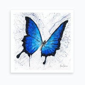 Tropics Of Blue Butterfly Art Print