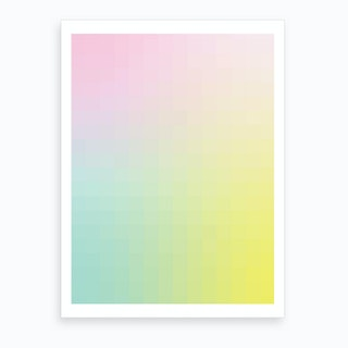 Gradientblocks 10 Art Print