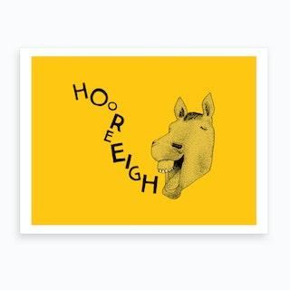 Hooray Horse Art Print