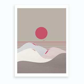 Minimal Sunset 9 Art Print