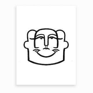 Merged Faces 4 Art Print
