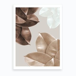 Brown Leaves Art Print