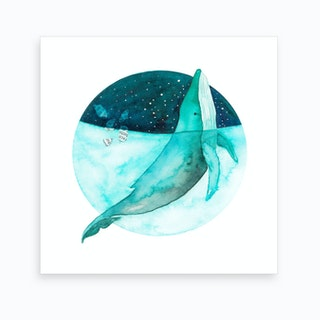 Cosmic Whale 2 Art Print