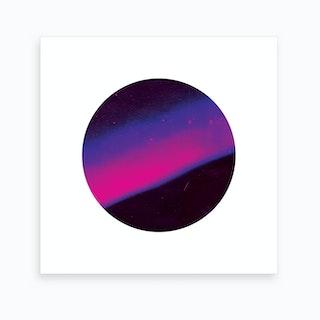 Purple Planet Art Print
