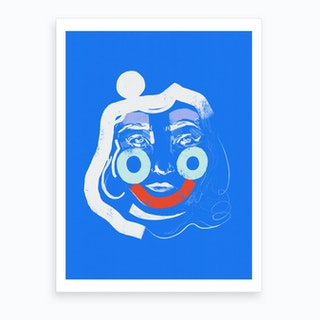Abstract Face Art Print