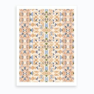 Boho Nomadic Tribal Orange Art Print