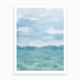 Ocean Clouds Art Print