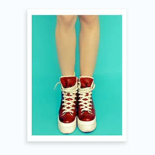 Red Shoes Art Print