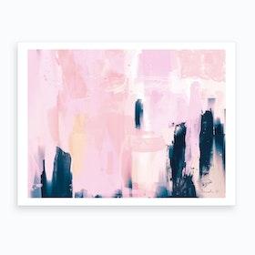 Pink Navy Art Print