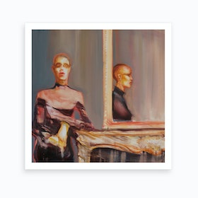 Woman With Reflection Art Print