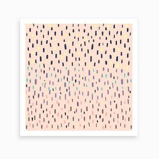 Rain Drop X Pink Sky Art Print