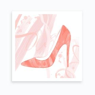 Blush And Tangerine Art Print