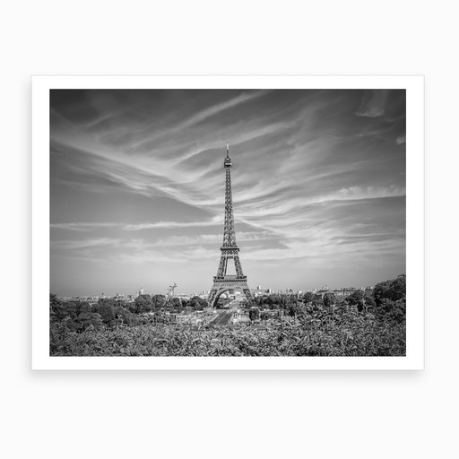 Eiffel Tower With Skyline Art Print