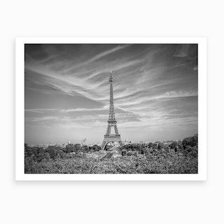 Paris Eiffel Tower With Skyline Art Print