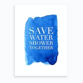Shower Together Art Print