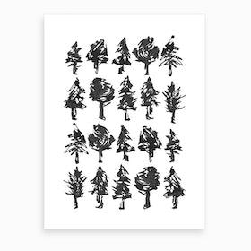 Ink Trees Art Print