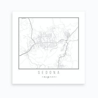 Sedona Arizona Street Map Art Print