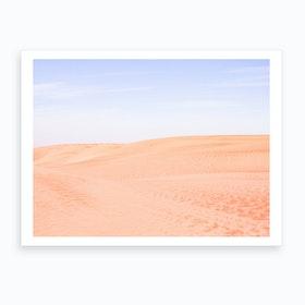 Sandy Desert Landscape 2 Art Print