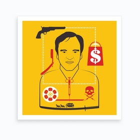 Tarantino Directors Cut Square Art Print