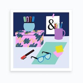 Desk Still Life Art Print