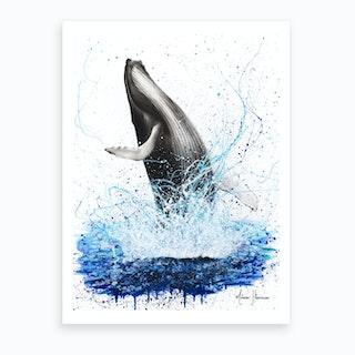 Glorious Ocean Whale Art Print