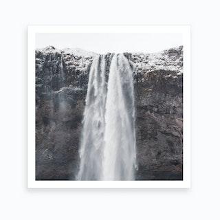 Seljalandsfoss Waterfall In Iceland Art Print