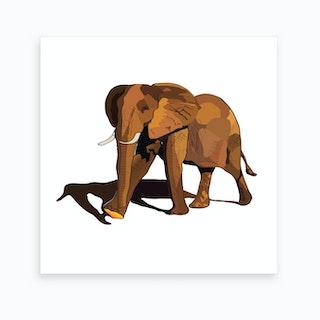 Desert Elephant 2 Art Print