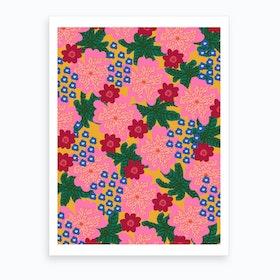 Plant Flowers Art Print