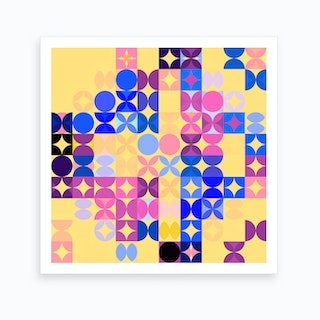 Colorful Modern Geometric Pattern Ii Art Print