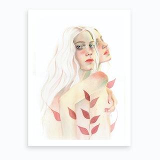 Lesbi Love Art Print