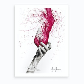 Wine Night Art Print