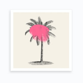 Tropical Tree Pink Art Print