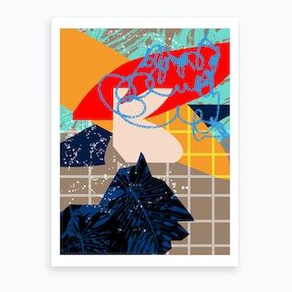 Poolside V Art Print