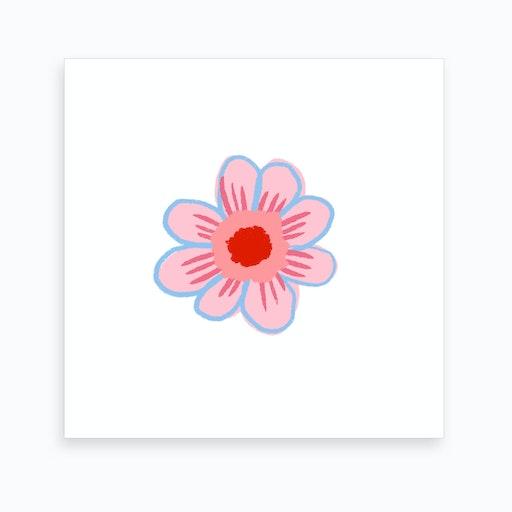 Sunflower Pink Art Print