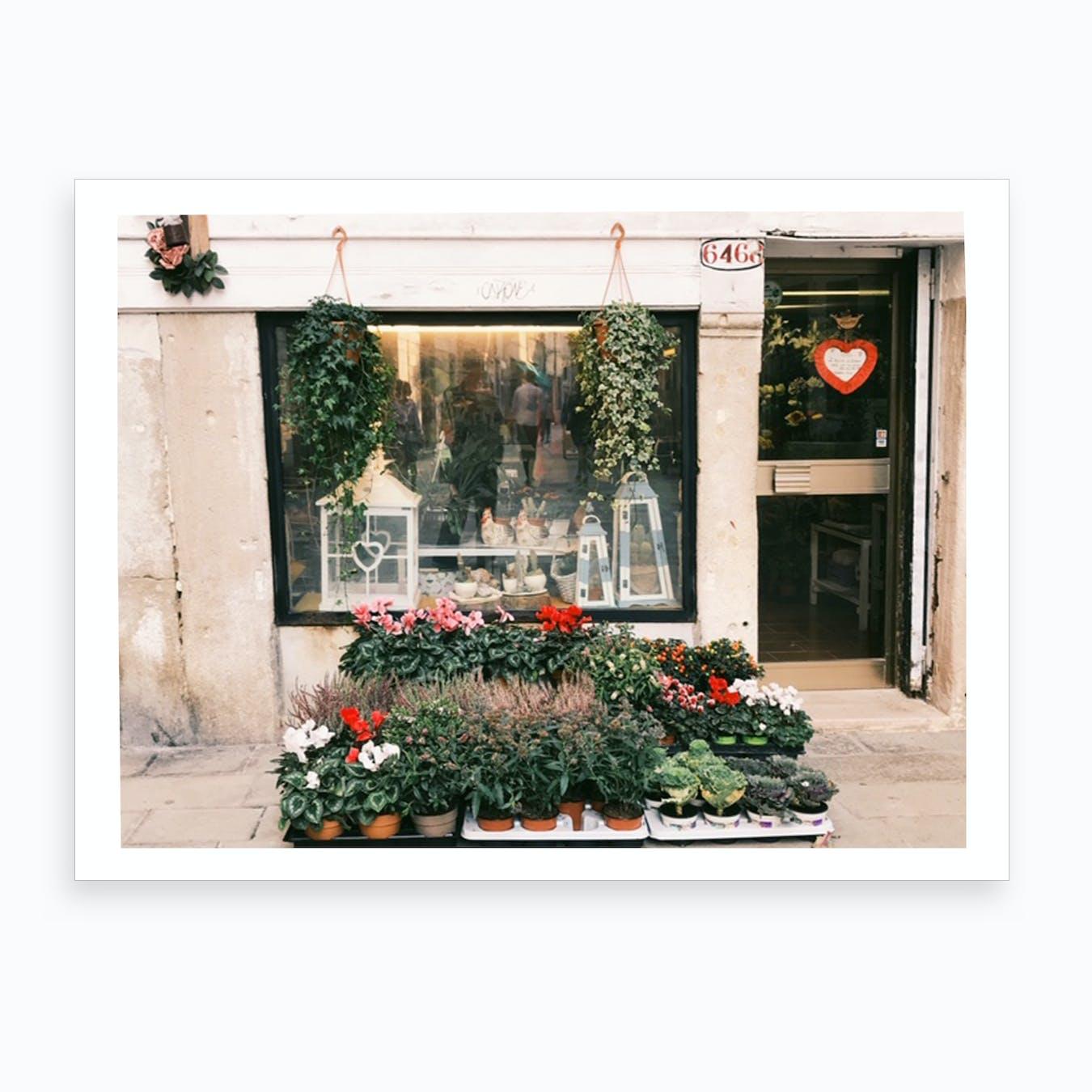 Venice Flower Shop Art Print