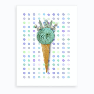Succulent Ice Cream Art Print
