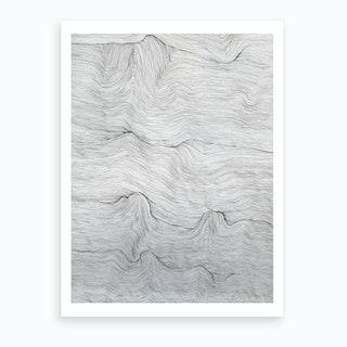 Sjobris Svartvit Art Print