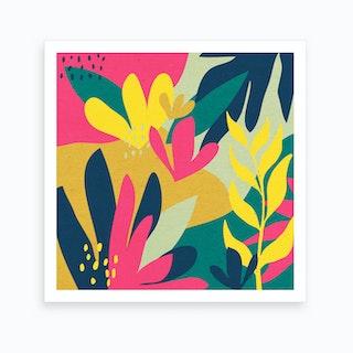Jungle Flowers Art Print