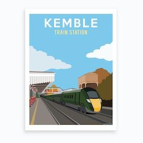 Kemble Train Station Art Print