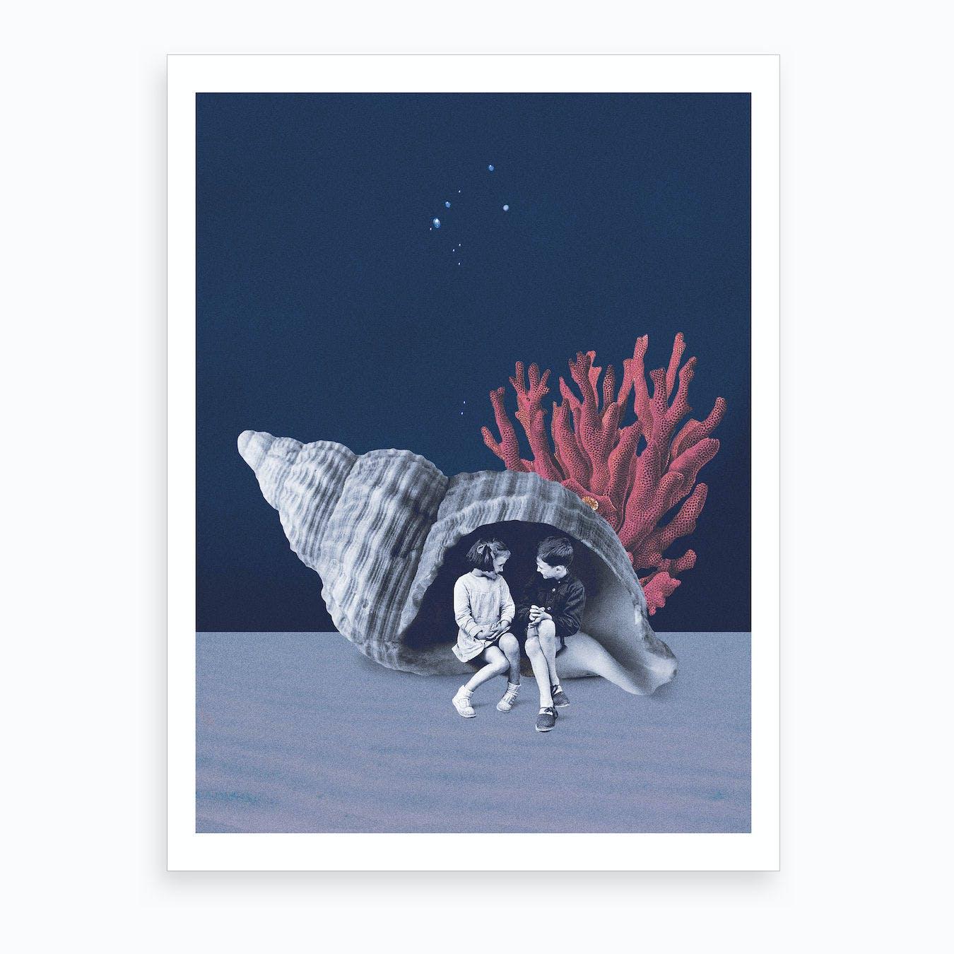 Can You Hear The Ocean Art Print