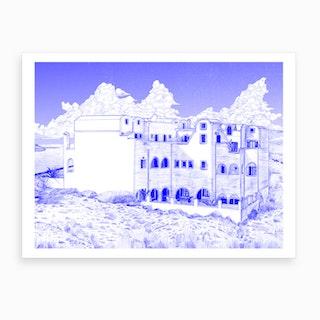 Astir Thira Hotel Art Print